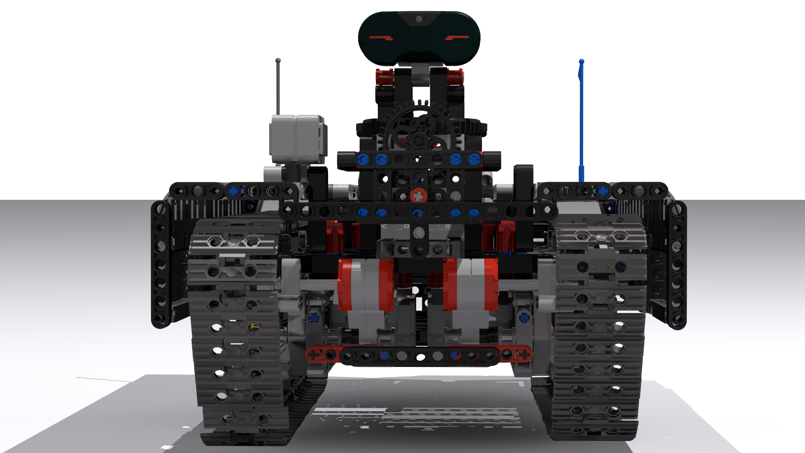 Ev3 Tracked Explorer Mark II - Front View