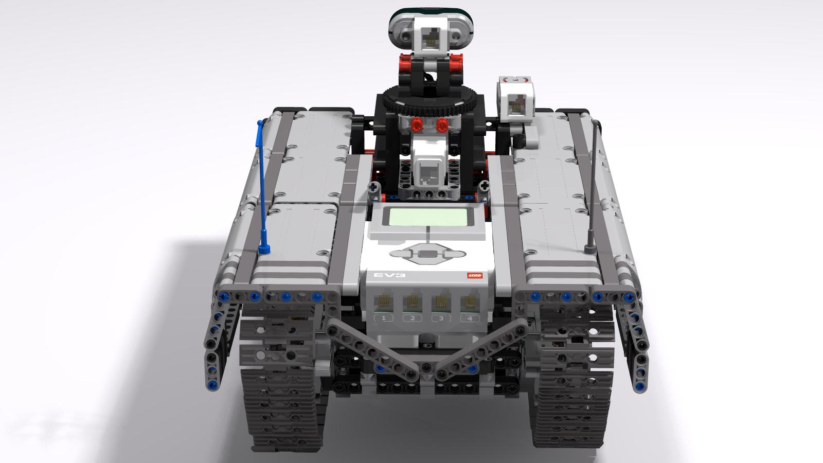 Ev3 Tracked Explorer Mark II - Back raised View