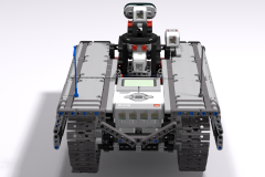 Ev3 Tracked Explorer Mark II - Back raised View