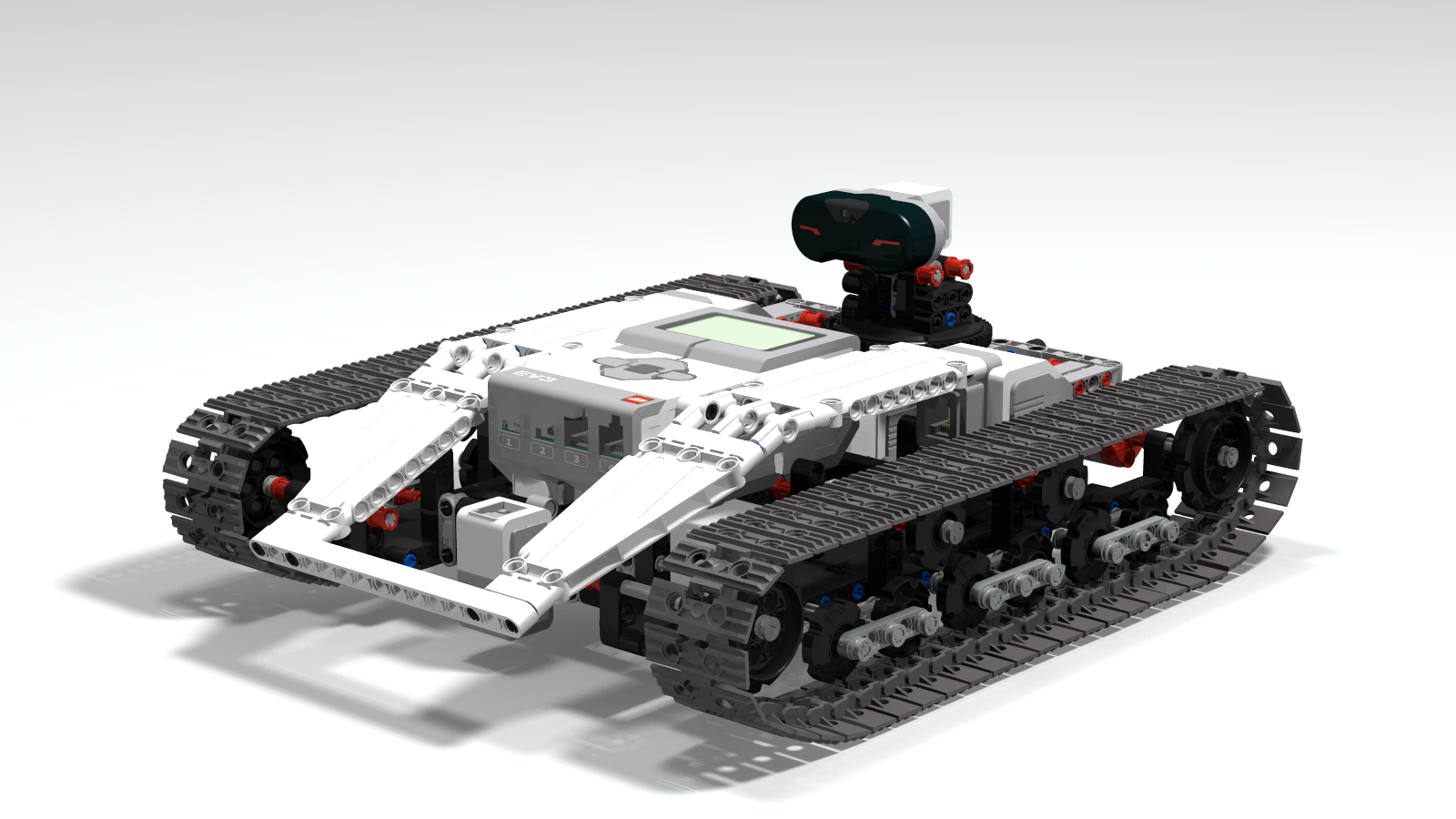 Ev3 Tracked Explor3r, an autonomous tracked vehicle with Ev3Dev